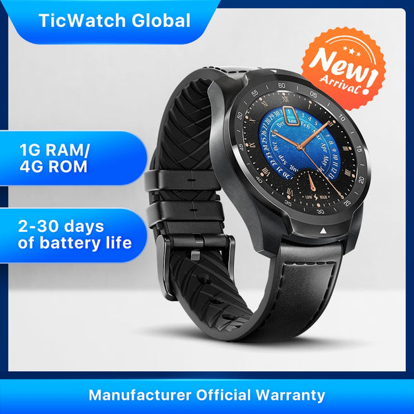 TicWatch Pro 2020 1GB RAM Memory Smartwatch Dual Display IP68 Waterproof NFC Available Sleep Tracking 24h Heart Rate Monitor - Dumux&EurekaYa