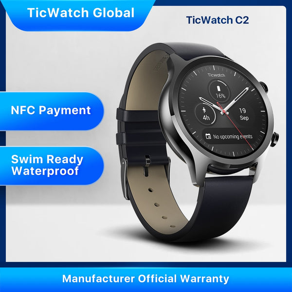 Ticwatch C2 Wear OS by Google Men Bluetooth Smart Watch Android&iOS Compatible IP68 Swim ready Waterproof GPS NFC Available - Dumux&EurekaYa