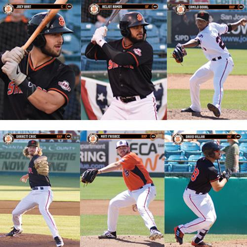 San Jose Giants 2019 Team Trading Card Set