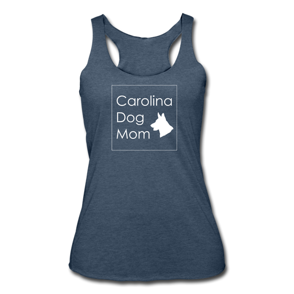CD Mom Women's Tri-Blend Racerback Tank - heather navy