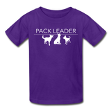 Pack Leader Ultra Cotton Youth T-Shirt - purple