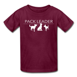 Pack Leader Ultra Cotton Youth T-Shirt - burgundy