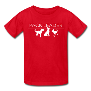 Pack Leader Ultra Cotton Youth T-Shirt - red