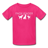 Pack Leader Ultra Cotton Youth T-Shirt - fuchsia