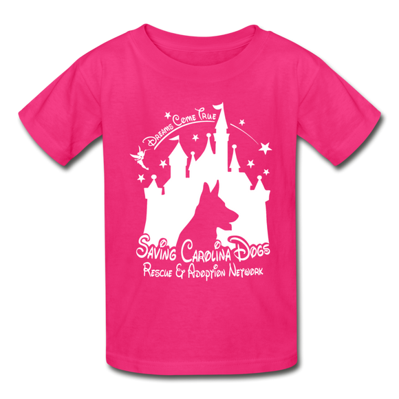 Dreams Come True Ultra Cotton Youth T-Shirt - fuchsia