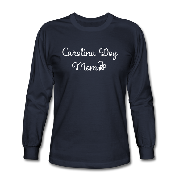 Carolina Dog Mom Long Sleeve T-Shirt - navy
