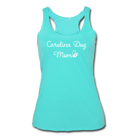 Carolina Dog Mom Women's Tri-Blend Racerback Tank - turquoise