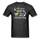All You Need is Love and a Carolina Dog Unisex Classic T-Shirt - heather black
