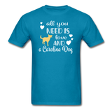 All You Need is Love and a Carolina Dog Unisex Classic T-Shirt - turquoise