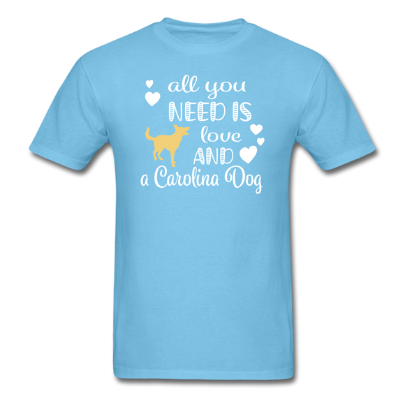 All You Need is Love and a Carolina Dog Unisex Classic T-Shirt - aquatic blue