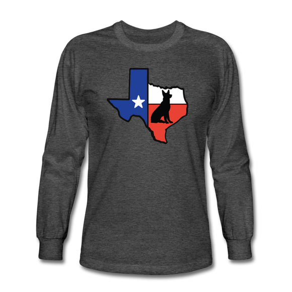 Deep in the Heart of Texas Long Sleeve T-Shirt - heather black