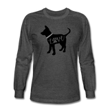 CD Puppy Love Long Sleeve T-Shirt - heather black