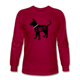 CD Puppy Love Long Sleeve T-Shirt - dark red