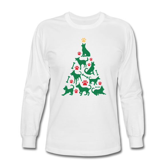 CD Christmas Tree Long Sleeve T-Shirt - white