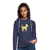Here Comes Santa Paws Unisex Lightweight Terry Hoodie - heather navy
