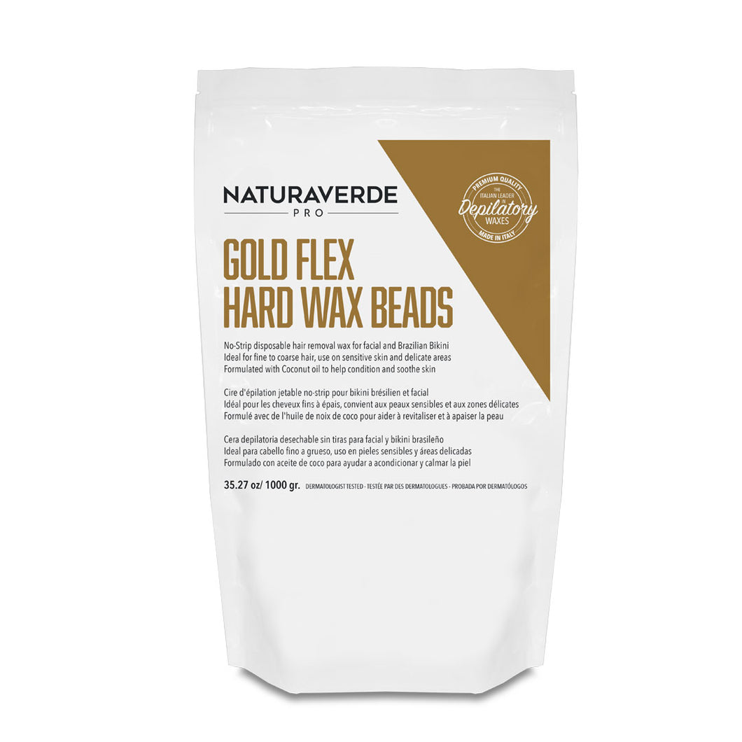 Gold Flex Hard Wax Beads