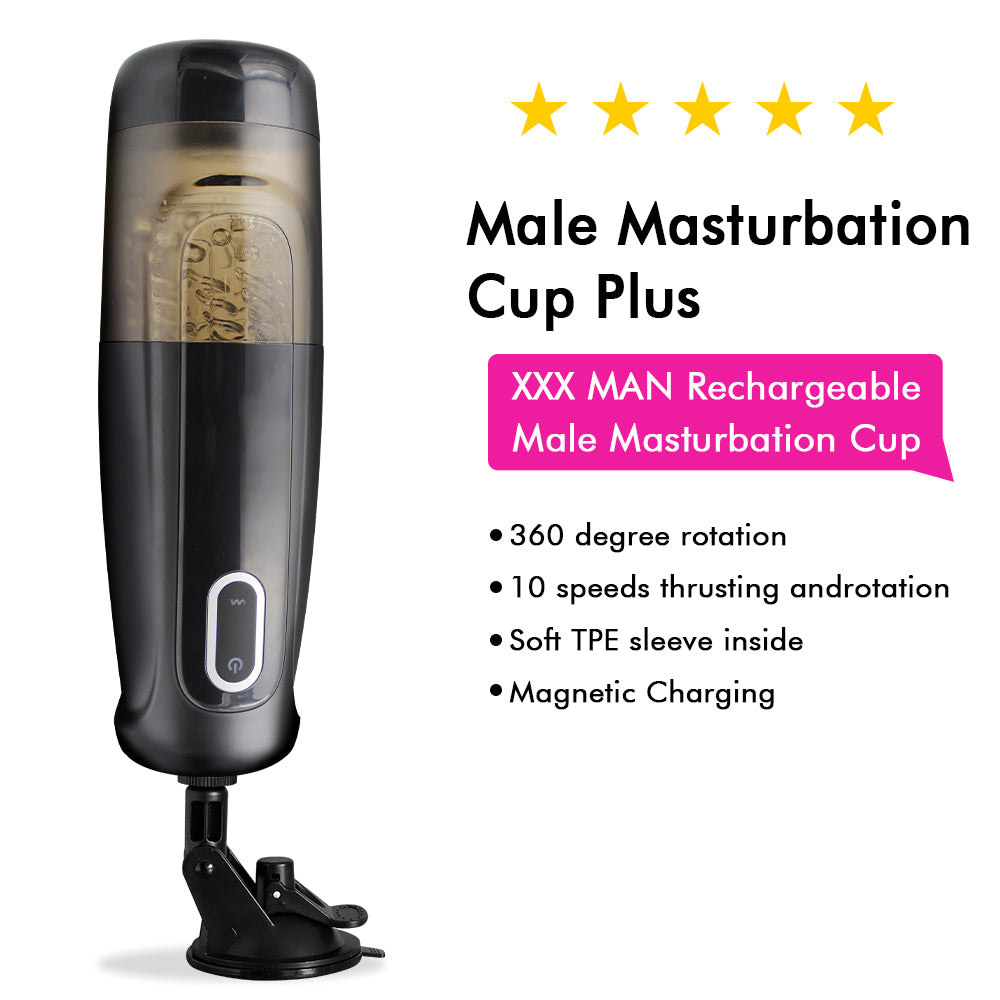 XXX MAN Rechargeable Male Masturbation Cup