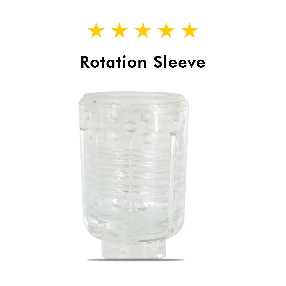 Male masturbation cup accessory -rotation sleeve