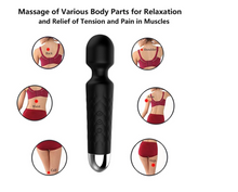 Load image into Gallery viewer, USB Rechargeable Silicone Back Massage Wand AV Vibrator - [yiwa_sex toys]