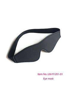Fantasy Tools Soft PU Leather BDSM Restraints Black blindfold - [yiwa_sex toys]