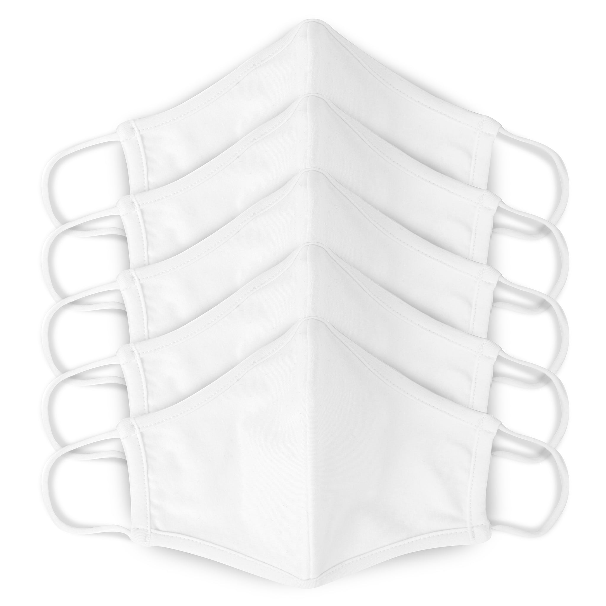 Cloth Face Mask — White (5-Pack)