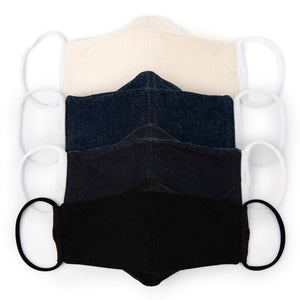 3D Origami Denim Face Masks (4-Pack)
