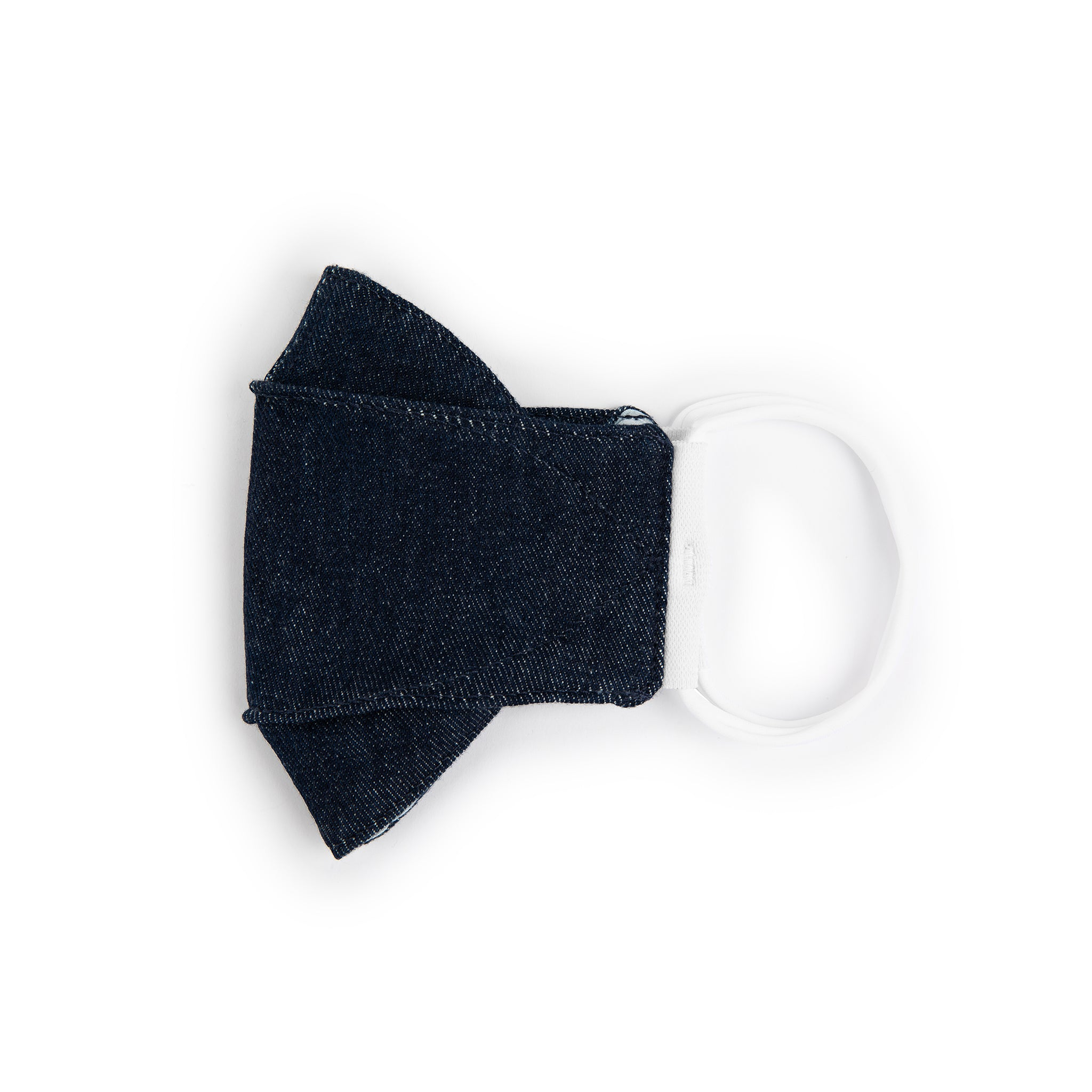 3D Origami Denim Face Mask — Medium
