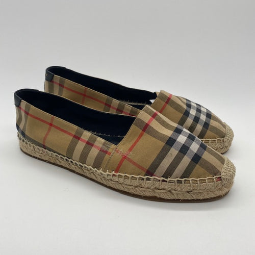 Burberry Vintage Check & Leather Espadrilles