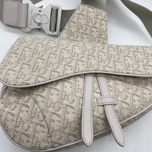 Load image into Gallery viewer, Dior White Saddle Bag