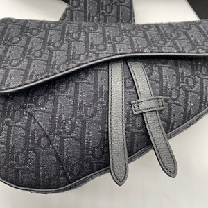 Dior Black Saddle Bag