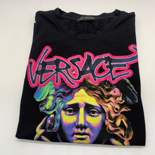 Load image into Gallery viewer, Versace Black/Multicolor Tshirt
