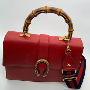 Gucci Red Leather Shoulder Bag