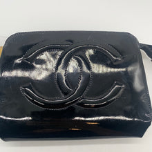 Load image into Gallery viewer, Chanel Black Patent Cosmetic Pouch