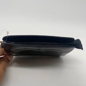 Chanel Black Patent Cosmetic Pouch
