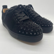 Load image into Gallery viewer, Christian Louboutin Black Suede Sneaker