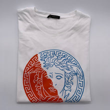 Load image into Gallery viewer, Versace Orange/Blue Tshirt