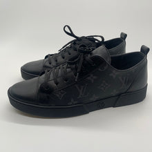 Load image into Gallery viewer, Louis Vuitton Black Monogram Sneaker Size 6.5