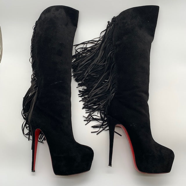 Christian Louboutin Black Boot