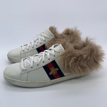 Load image into Gallery viewer, Gucci White Fur Sneaker