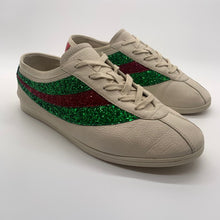 Load image into Gallery viewer, Gucci White Glitter Sneaker