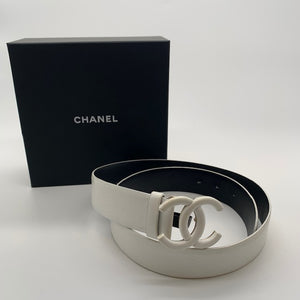 Chanel White Unisex Belt