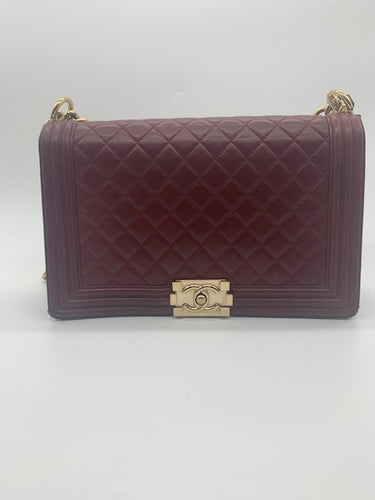 Chanel Burgundy Handbag