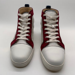 Christian Louboutin Burgundy/Blue Sneakers