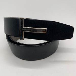 Tom Ford Khaki/Black Men's Belt