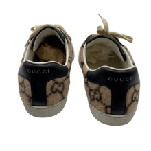 Load image into Gallery viewer, Gucci Wool Leather Black Sneakers