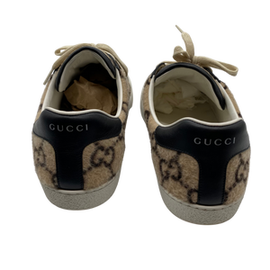 Gucci Wool Leather Black Sneakers