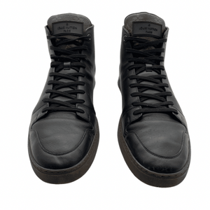 Louis Vuitton Black Leather Zip Monogram Sneaker