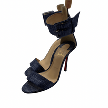 Load image into Gallery viewer, Christian Louboutin Denim Strap Heel