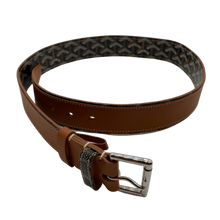 Load image into Gallery viewer, Goyard Black & Tan Print Belt