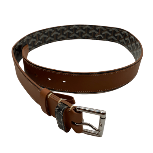 Goyard Black & Tan Print Belt